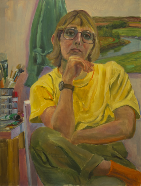 Self-Portrait at Johnson, Vermont (In the Studio) by Pat Ralph