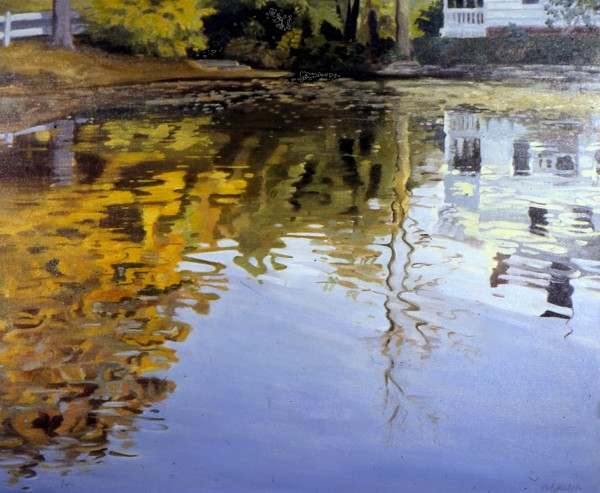 Mill Pond: Autumn Afternoon by Pat Ralph