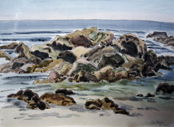 Rocks at Low Tide by Pat Ralph