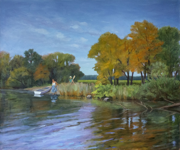Untitled #282 (Couple With Rowboat) by Pat Ralph