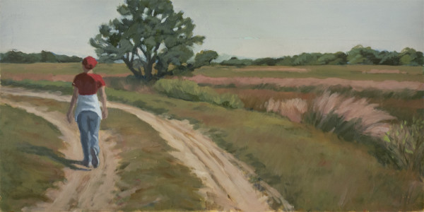 Untitled #307 (Woman on Dirt Road) by Pat Ralph