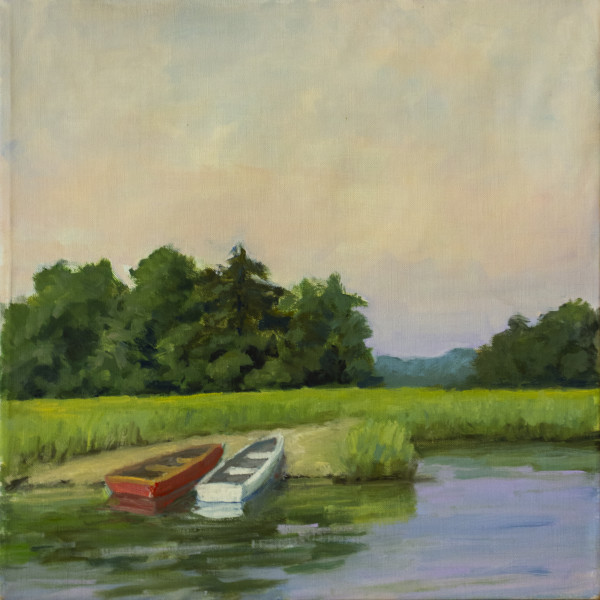 Untitled #314 (Marsh with Two Skiffs) by Pat Ralph