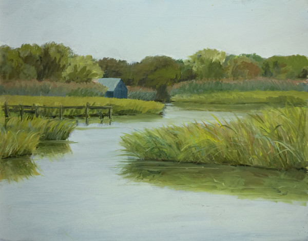 Untitled #323 (Marsh and Grey Shed) by Pat Ralph