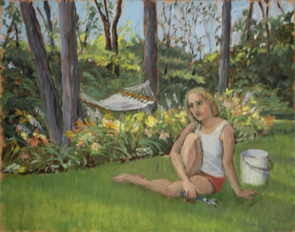 Untitled #331 (Girl with Hammock) by Pat Ralph