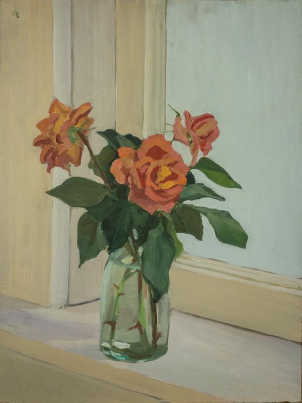 Untitled #332 (Floral Arrangement on Windowsill) by Pat Ralph