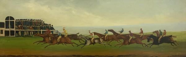 Racing Scenes (a pair) by 19th Century European