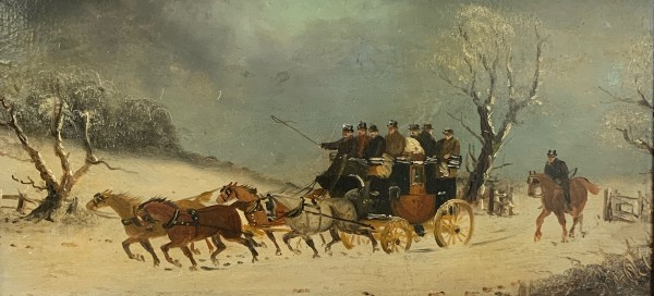 19th Century Coaching Scenes (pair) by 19th Century European