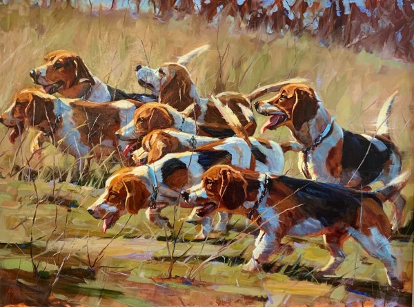 A Pack of Beagles by Kelly Brewer