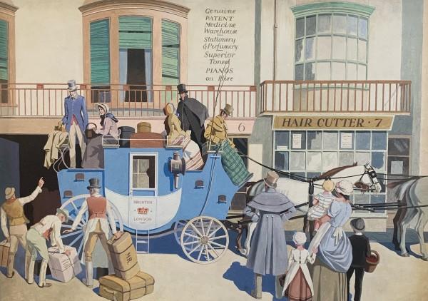 Brighton Coach by 20th Century European