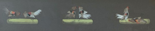 Cockfighting Trio by 20th Century American