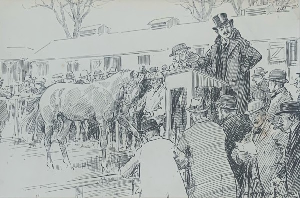 At the Sales by George Denholm Armour