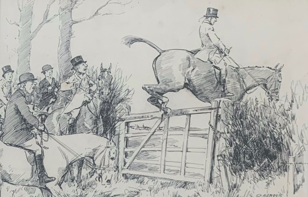 Clearing the Jump by George Denholm Armour