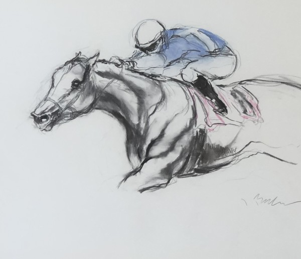 Full Sprint (Blue & Pink) by Jeaneen Barnhart