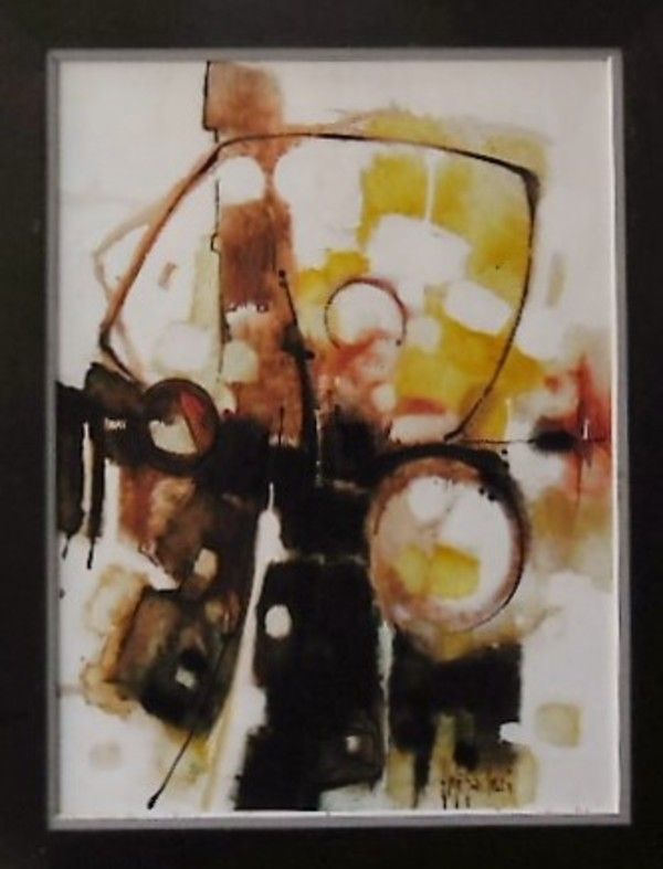 """""""Abstract"""" Brown, Rust, Yellow by Aldo Paolucci by Aldo Paolucci"""