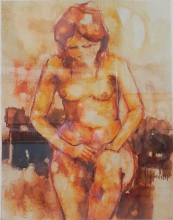 """""""Nude in Bath"""" by Aldo Paolucci by Aldo Paolucci"""