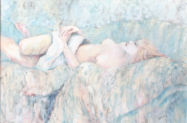 """Bedspread Nude"" by Jane Fletcher by Jane Fletcher"