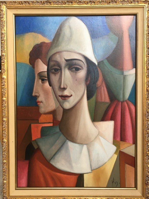 """L' Arlequin Triste"" by Antonio Diego Voci Complete w/ Book where Artwork is featured by Antonio Diego Voci"