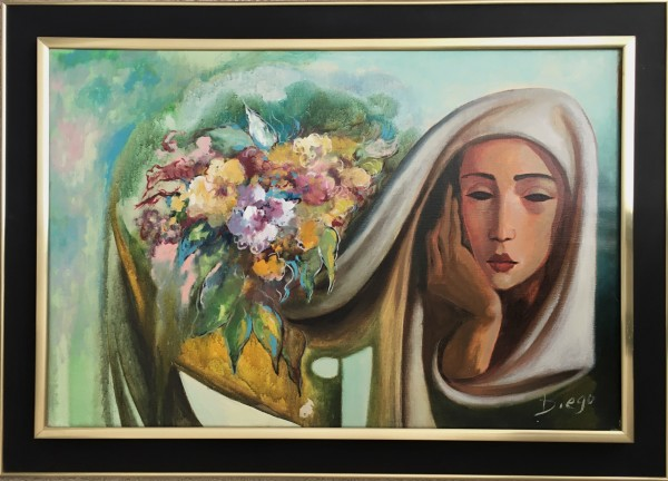 """""""Flowers and Figure Composition"""" #C106 in #Naffouj Frame by Antonio Diego Voci"""