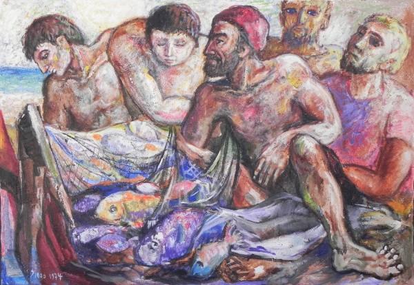 """""""Fisherman's Miraculous Catch"""" #C18 by Antonio Diego Voci by Antonio Diego Voci"""