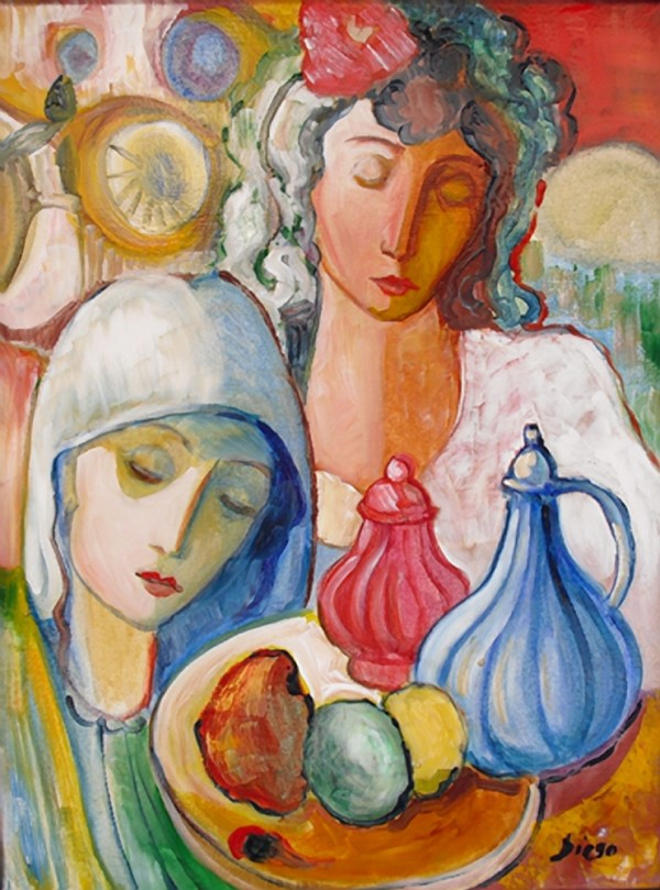"""Still Life with Women"" by Antonio Diego Voci #C28 by Antonio Diego Voci"