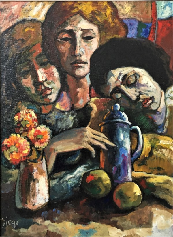 """Composition with 3 Women"" by Antonio Diego Voci #C40 by Antonio Diego Voci"