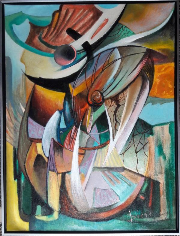 """Composition Abstract Surrealism"" #C52 by Antonio Diego Voci by Antonio Diego Voci"