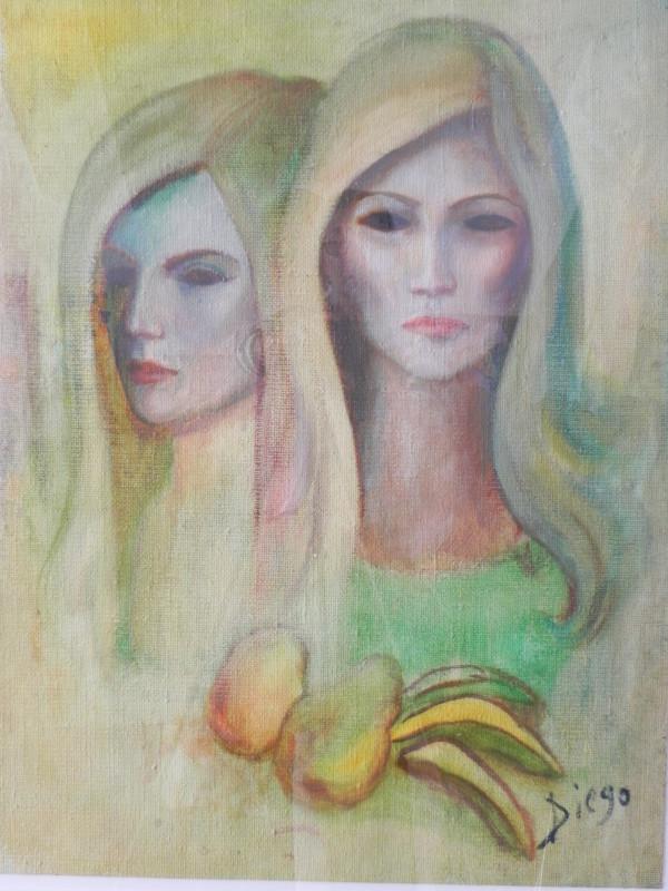 """Helga"" Antonio Diego Voci's widow  by Antonio Diego Voci #C53 by Antonio Diego Voci"