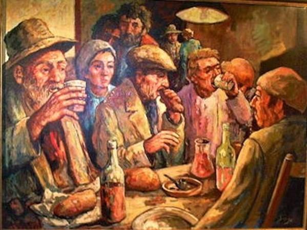 """""""Gasthaus Scene"""" by Antonio Diego Voci #C60 by Antonio Diego Voci"""