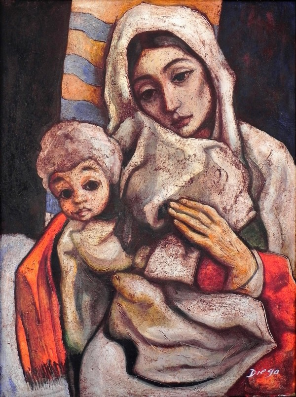 """""""Madonna and Child"""" by Antonio Diego Voci #C65 by Antonio Diego Voci"""