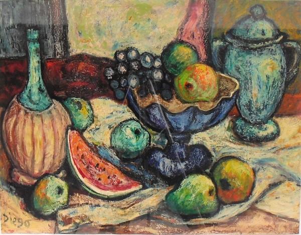 """Still Life with Watermelon"" #C66 by Antonio Diego Voci by Antonio Diego Voci"