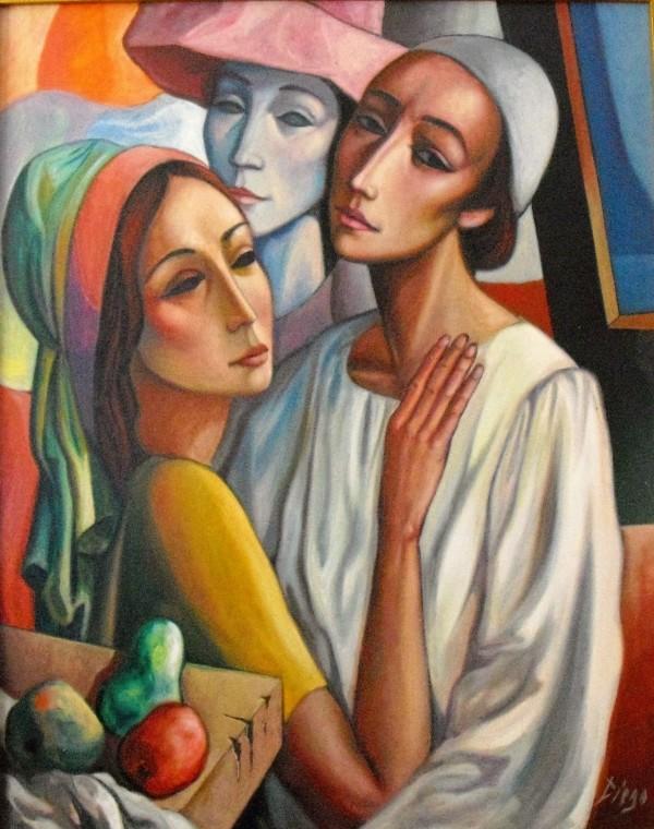 """Masques de la Comedie italienne"" by Antonio Diego Voci #C68 by Antonio Diego Voci"