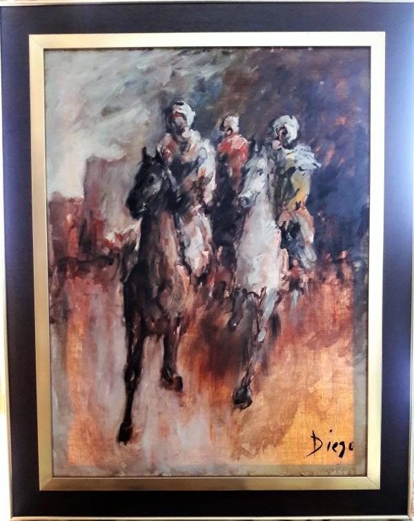 """Horseriders"" by Antonio Diego Voci #C83 by Antonio Diego Voci"