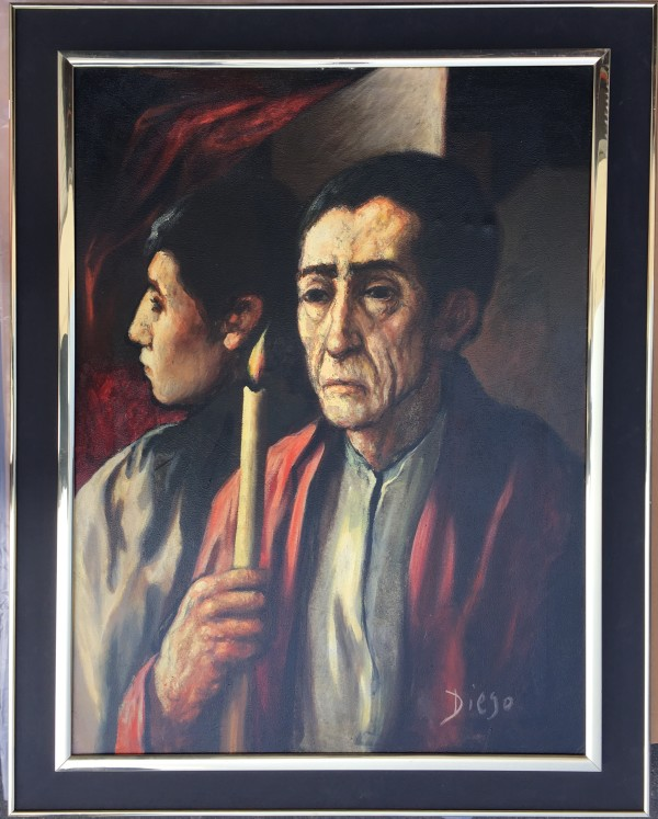 """Men with Candlelight"" #C84 by Antonio Diego Voci"