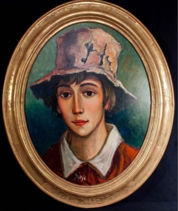 """""""Young Boy with Hat"""" #C89 by Antonio Diego Voci"""