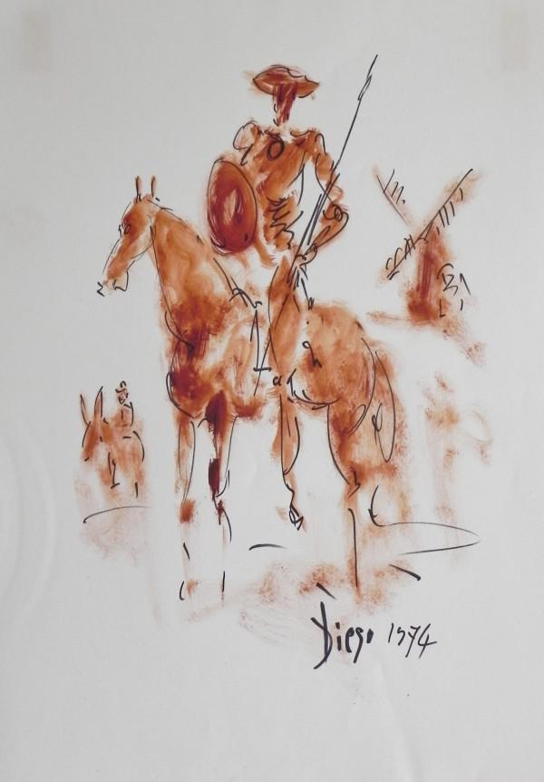 """Don Quixote and Pancho"" CD13 by Antonio Diego Voci"