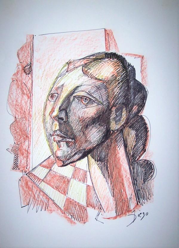 """Dark Woman with Sharp Angles"" CD15 by Antonio Diego Voci"