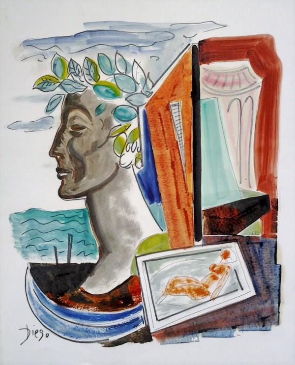 """""""Emperor with Reclining Nude"""" by Antonio Diego Voci #CD2 by Antonio Diego Voci"""