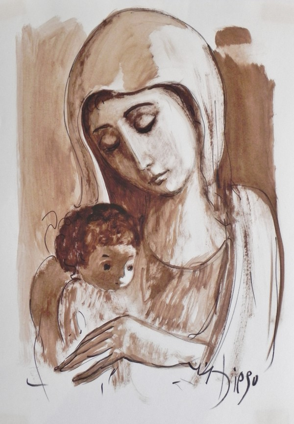 """""""Mother with Child on Left-1"""" CD32 by Antonio Diego Voci"""