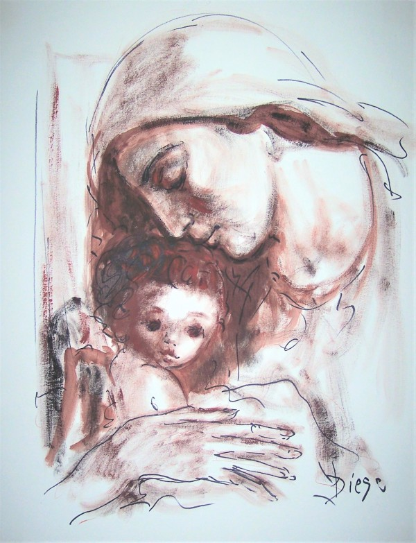 """""""Mother with Child Left-2"""" CD38 by Antonio Diego Voci"""