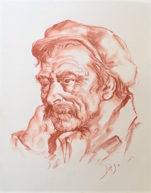 """Old Man with Cap"" CD41 by Antonio Diego Voci"