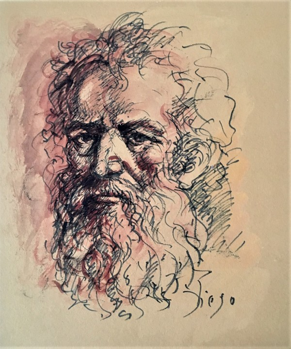"""""""Old Man"""" (with Wild Hair and Beard) CD43 by Antonio Diego Voci"""