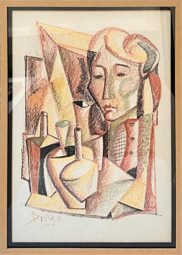 """""""Cubist Abstract"""" CD44 (Framed) by Antonio Diego Voci"""