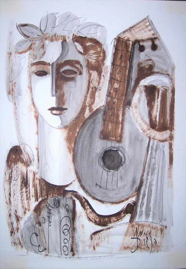 """Face with Mandolin"" CD6 by Antonio Diego Voci"