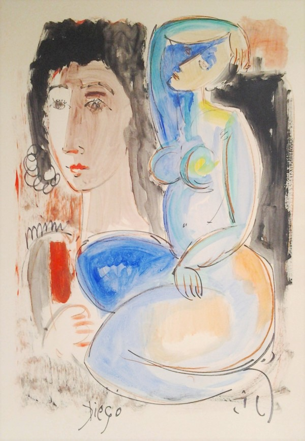 """""""Face with Blue Nude"""" CD7 by Antonio Diego Voci"""
