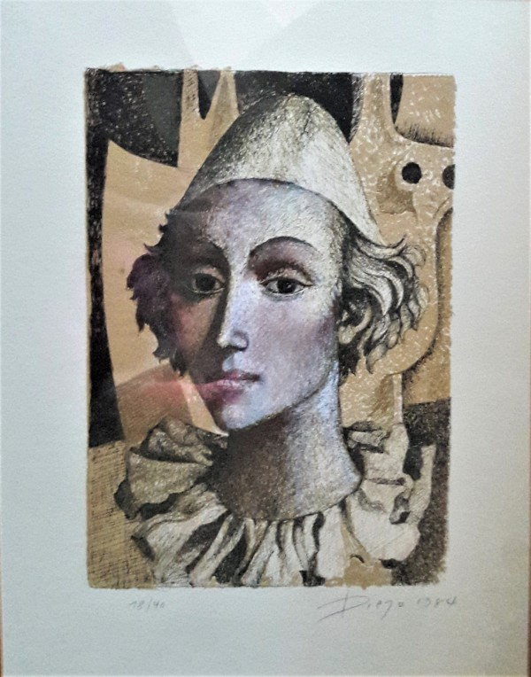 """The Clown"" Framed by Antonio Diego Voci by Antonio Diego Voci"