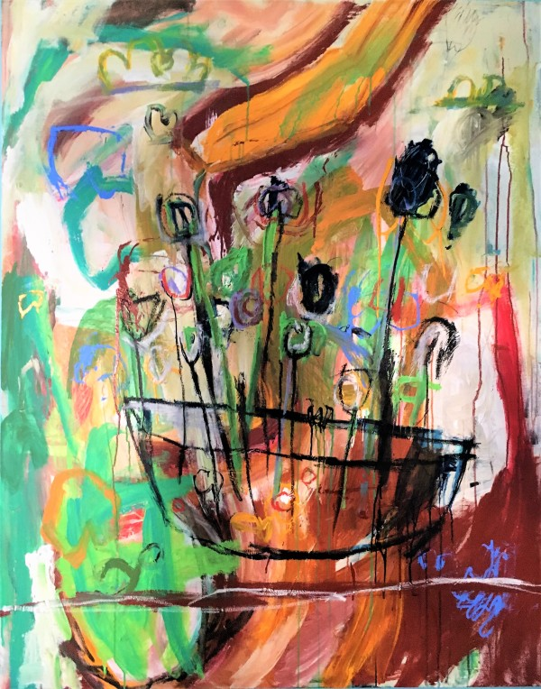 """""""Flowers over Table"""" by Tim Caton by Tim Caton"""