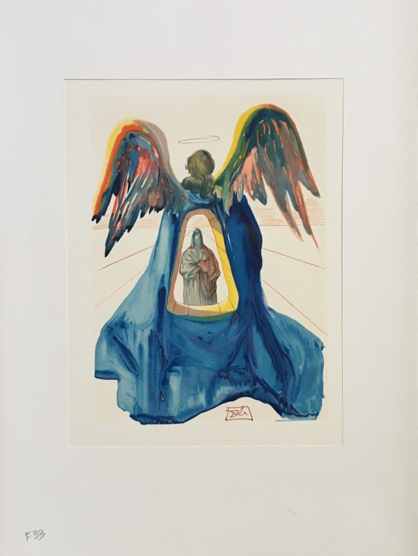 """Der  Geläuterte Dante"" (German) ""Dante Purified"" Göttliche Komödie ""Fegefeuer"" F33 by Salvador Dali #D17 by Salvador Dali"