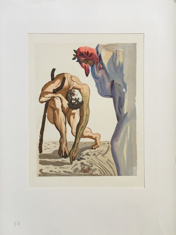 """ Die säumigen Firsten aus dem Tal der Blumen"" (German)""The Law of Climbing"" Göttliche Komödie Fegefeuer F7 by Salvador Dali #D11 by Salvador Dali"