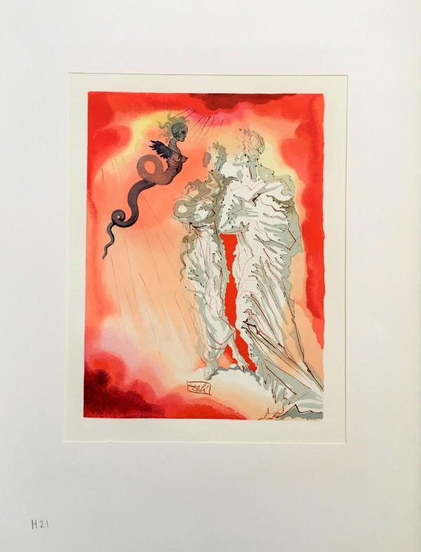 """Fraud"" Göttliche Komödie Hölle  H21 by Salvador Dali #D8 by Salvador Dali"