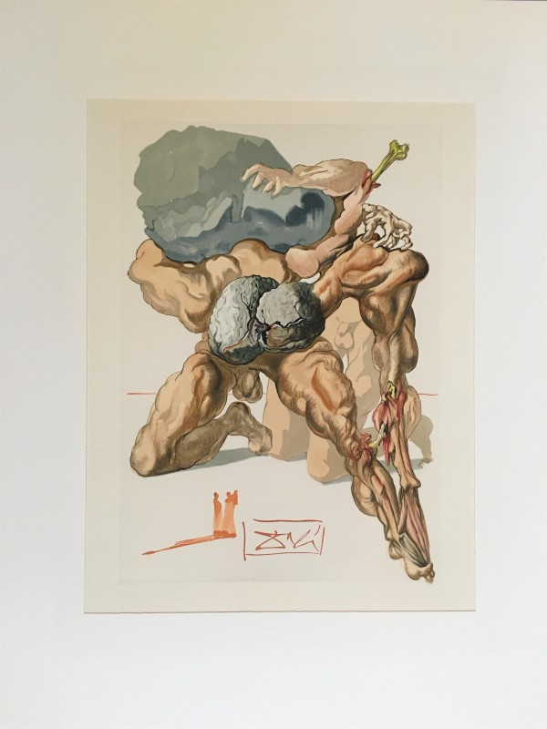 """Geizhälse und Verschwender"" (German) ""The Avaricious and the Prodigal"" Göttliche Komödie Hölle H7 by Salvador Dali #D3 by Salvador Dali"